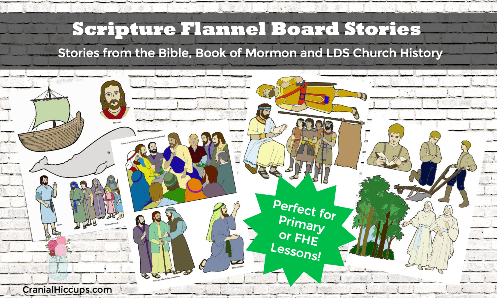 scripture flannel board stories cranial hiccups