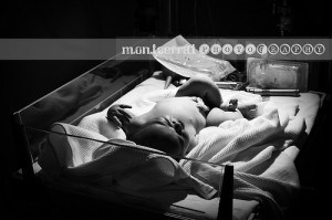 Moments after birth 01 B&W