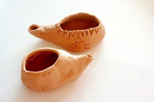 Homemade Clay Oil Lamps Cranial Hiccups