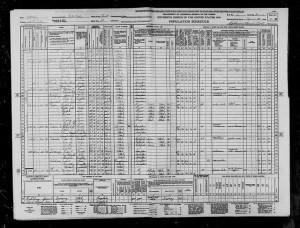 1940 Census Utah Charles Worthen Gibbs