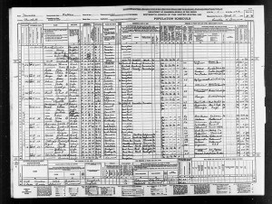 1940 Census Nevada Crook Children and Amelia Murdock Witt