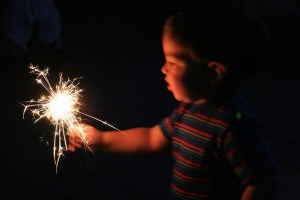Sparklers For the First Time