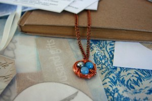 Joy birds nest necklace