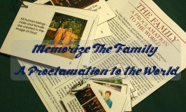 Memorize The Family: A Proclamation to the World