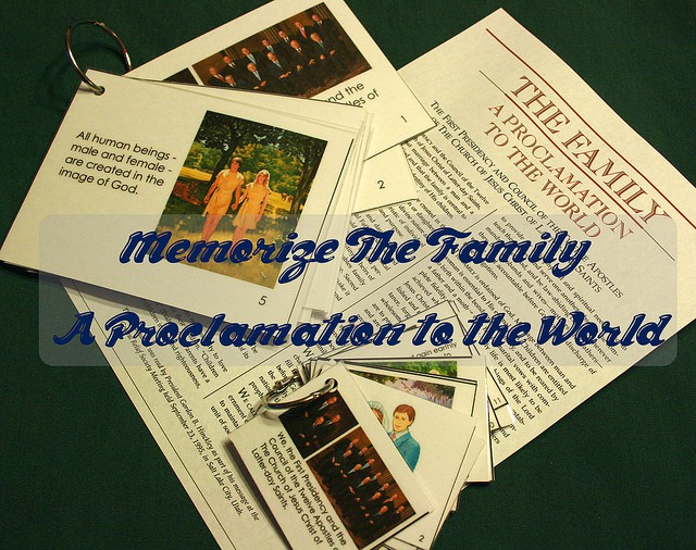 Flashcards and posters to help you memorize The Family: A Proclamation to the World