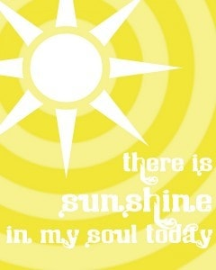 sunshine in my soul 8x10