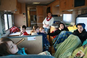 riding in the motor home