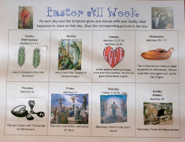 Celebrate Easter All Week By Learning About The Last Week