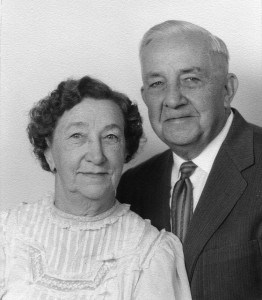 Florence Emma Ashton and Charles Worthen Gibbs (Peter's grand parents) on their 50th wedding anniversary