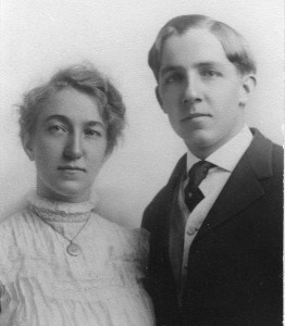 Florence Emma Ashton and Charles Worthen Gibbs (Peter's grandparents) on their wedding day