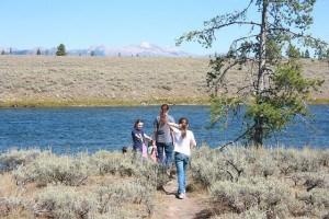 Walking to Madison River