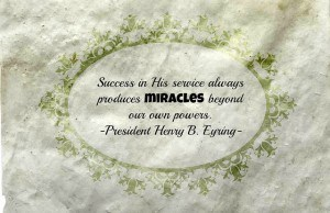 Success in Service - President Eyring