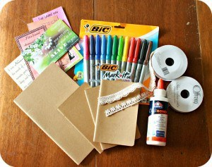 Journal decorating supplies