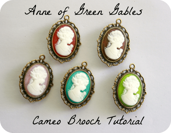 anne of green gables cameo brooch tutorial cranial hiccups