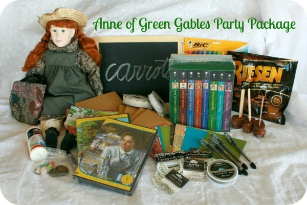 Anne of Gren Gables Party Package