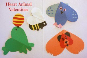 heart animal valentines