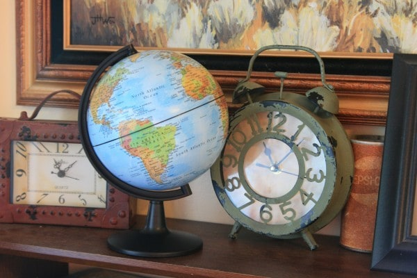 small globe clocks