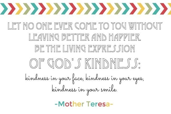 kindness by mother teresa
