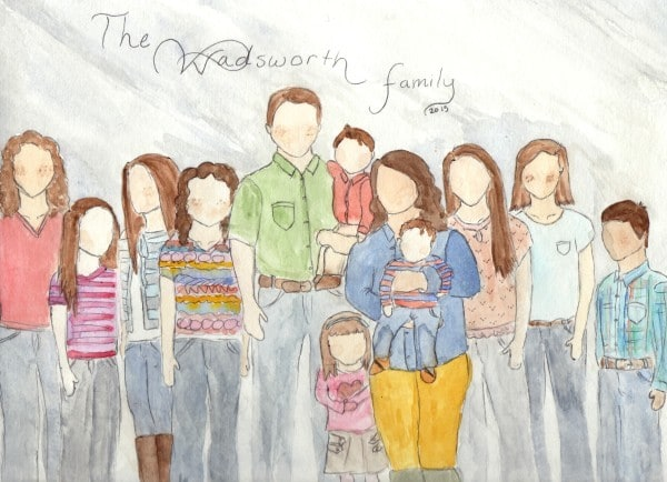 Wadsworth Family Drawing