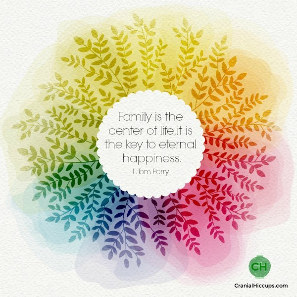 Family is the center of life, it is the key to eternal happiness. L Tom Perry #ldsconf