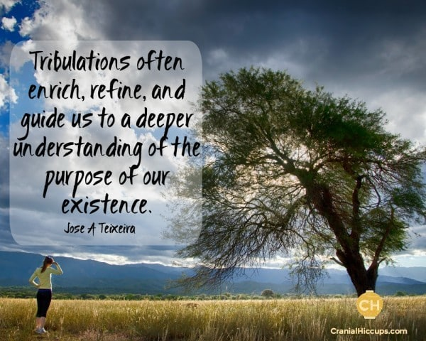 Tribulations often enrich, refine, and guide us to a deeper understanding of the purpose of our existence. Jose A Teixeira #ldsconf