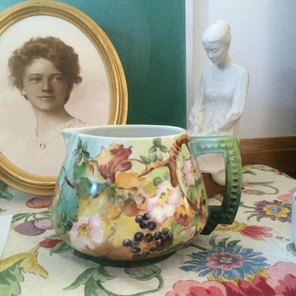 pitcher painted by Ada Bitner