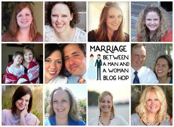 Marriage between a man and a woman blog hop