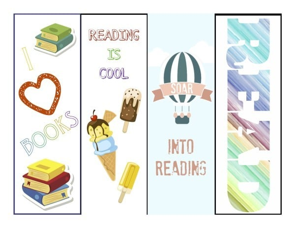 Summer Reading Bookmarks Color