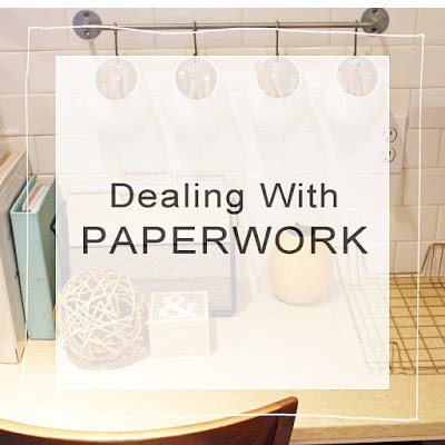 Callie share suggestions on dealing with paperwork in your home and keeping it all organized.
