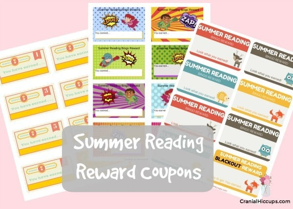 Fill out these summer reading reward coupons with prizes your kids can earn for doing their summer reading charts - CranialHiccups.com