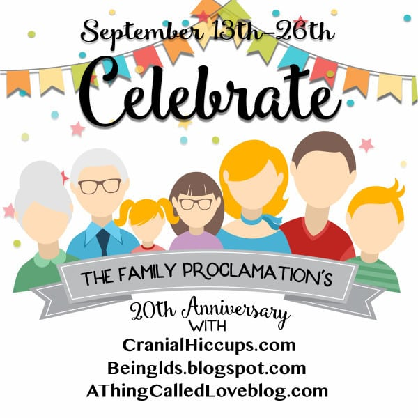 Come celebrate the Family Proclamation's 20th anniversary at www.cranialhiccups.com