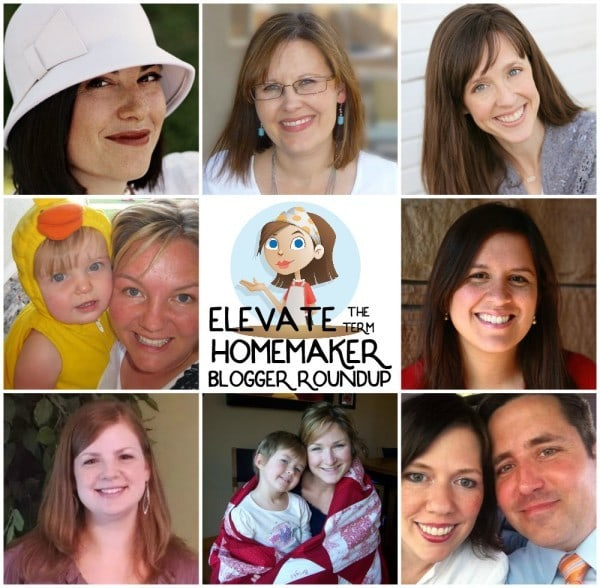 These bloggers are determined to elevate the term of homemaker! Read their posts in this blogger round-up.