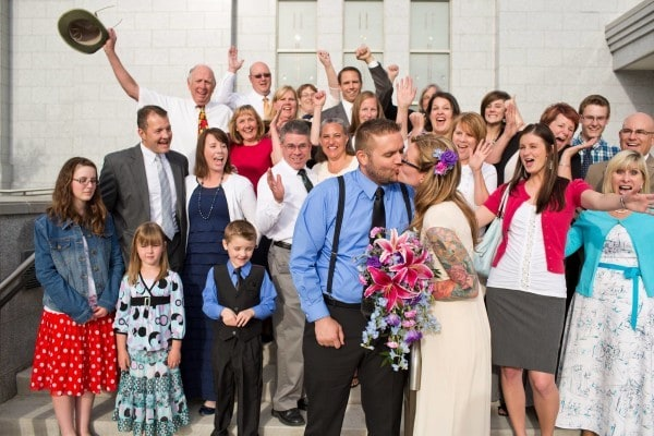 The day we were sealed as a family in the temple!