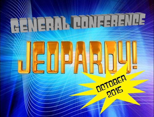 How well did you listen to General Conference? Play this October 2015 General Conference Jeopardy game to find out! Great for seminary, young men or young women mutual activities, and family home evening. #LDSConf