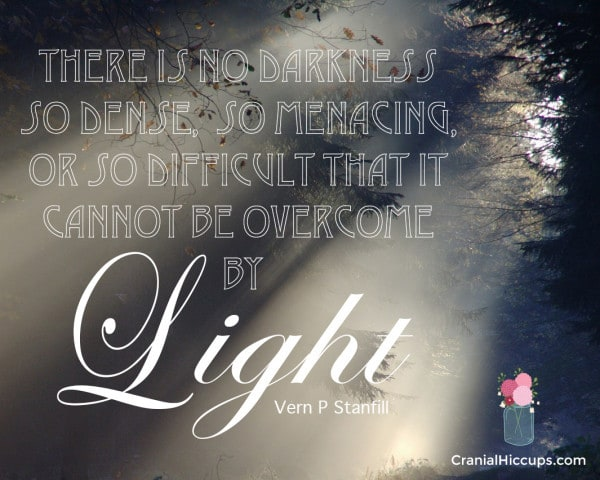 There is no darkness so dense, so menacing, or so difficult that it cannot be overcome by light. Vern P. Stanfill #LDSConf #ElderStanfill