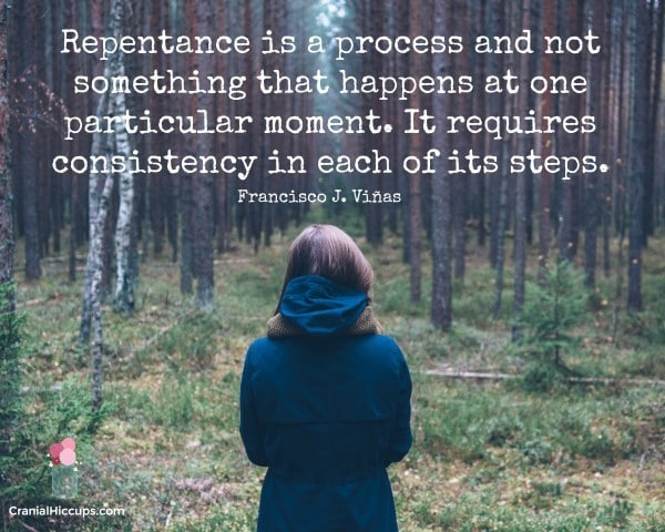 Repentance is a process and not something that happens at one particular moment. It requires consistency in each of its steps. Francisco J. Vinas #LDSConf #ElderVinas