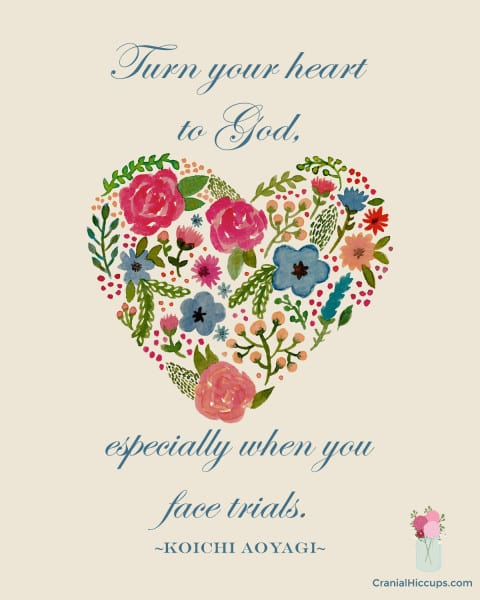 Turn your heart to God, especially when you face trials. Koichi Aoyagi #LDSConf #ElderAoyagi