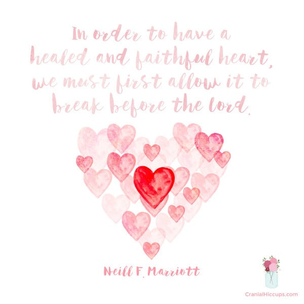 In order to have a healed and faithful heart, we must first allow it to break before the Lord. Neill F. Marriott #LDSConf #SisterMarriott