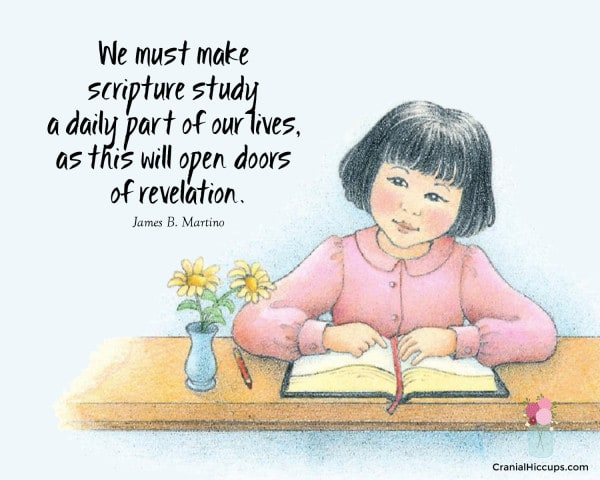We must make scripture study a daily part of our lives, as this will open doors of revelation. James B. Martino #LDSConf #ElderMartino