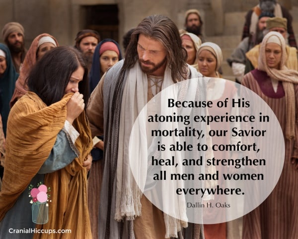 Because of His atoning experience in mortality, our Savior is able to comfort, heal, and strengthen all men and women everywhere. Dallin H. Oaks #LDSConf #ElderOaks
