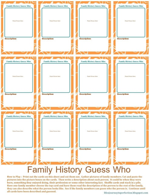 Family History Guess Who