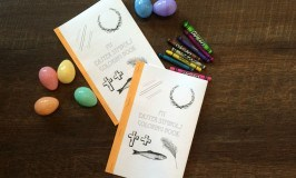Easter Symbols Coloring Book, Candy Box, and Tag