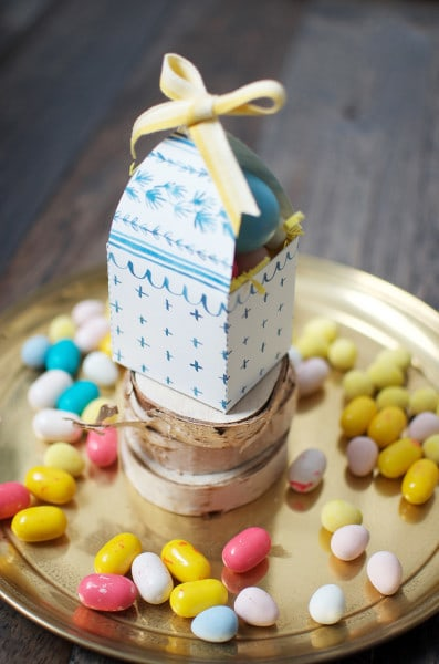 Easter candy box printable
