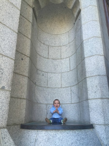 Henry at alcove in Salt Lake Temple