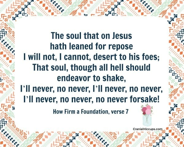 How Firm a Foundation verse 7