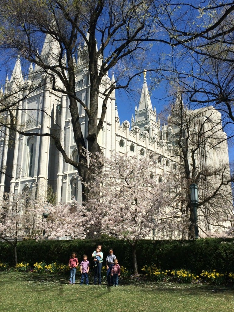 Littles in front of Salt Lake Temple