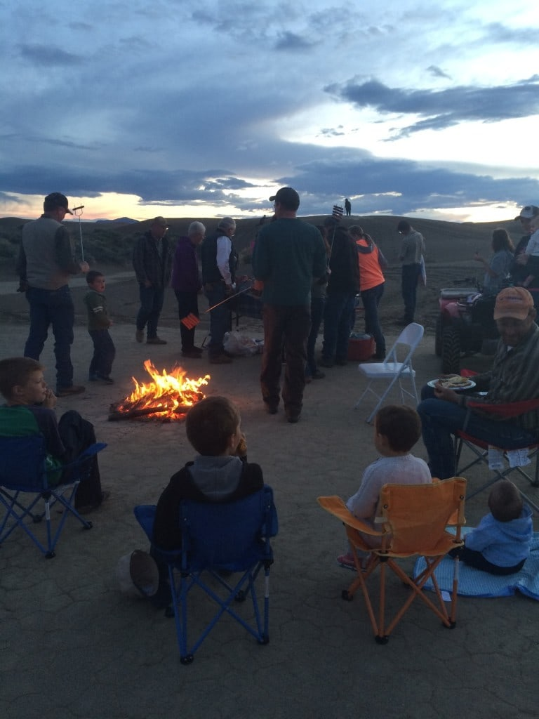 cookout at sand dunes