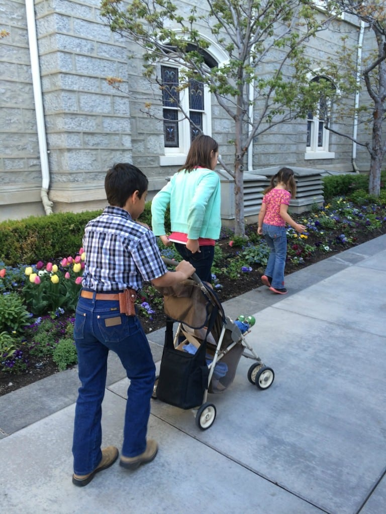 walking at temple square