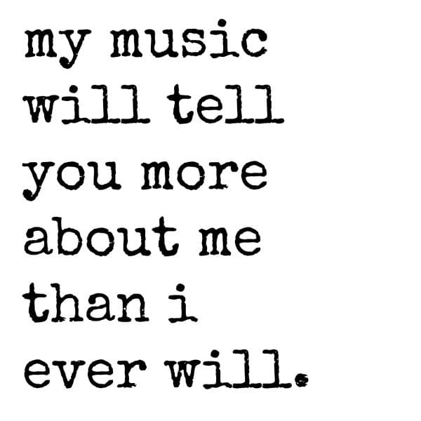 music tell more about me meme