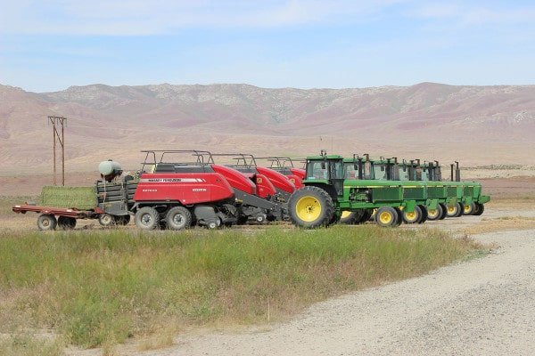 Balers parked